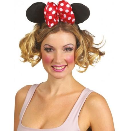 Serre-tête Minnie adulte avec gros noeud à pois