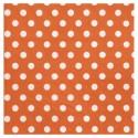 Serviettes de table orange à pois en papier les 20
