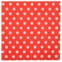 Serviettes de table rouges à pois en papier les 20