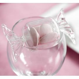 Boîte à dragées Bonbon plexi transparent 8.5 cm les 40