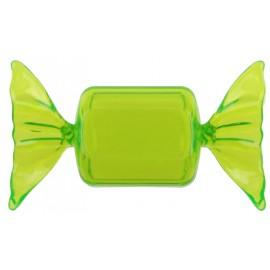 Boîte à dragées Bonbon plexi vert anis 8.5 cm les 40