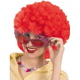 Perruque hippie rouge adulte