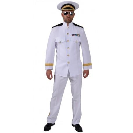 Déguisement officier blanc homme luxe