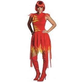 Déguisement fée du feu femme