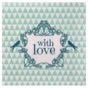 Serviettes de table vintage with love menthe papier les 20