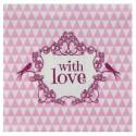 Serviette de table vintage with love rose papier les 20