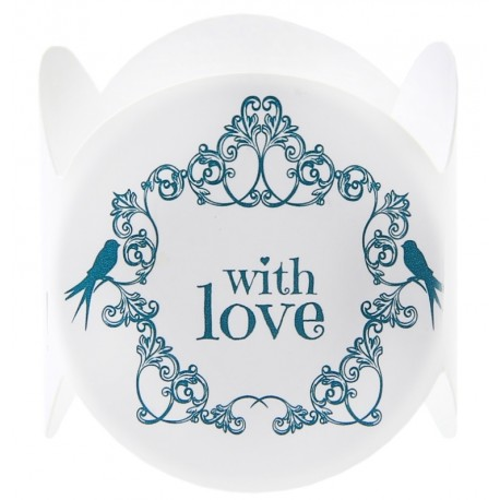 Ronds de serviette vintage with love menthe les 6