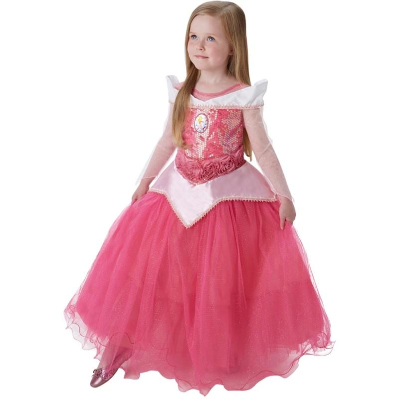 D guisement aurore belle au bois dormant disney fille premium - Deguisement princesse aurore ...