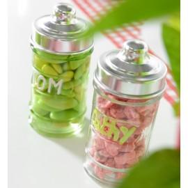 Pot à dragées pharmacie en verre transparent les 20