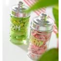 Pots à dragées pharmacie en verre transparent les 20