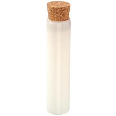 Eprouvette à dragées blanche en verre 10 cm les 48