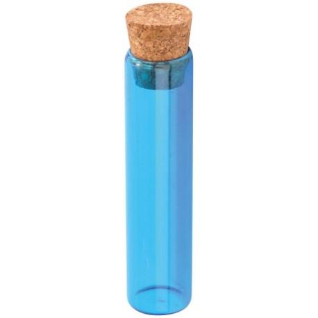 Eprouvette à dragées turquoise en verre 10 cm les 48