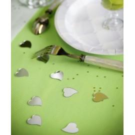 Confettis de table miroir coeur les 10