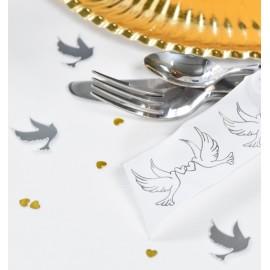 Confetti de table miroir colombe les 10