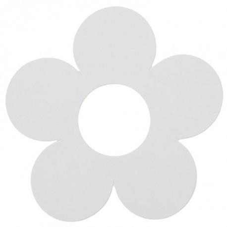 Marque place fleur blanche carton 7 cm les 10