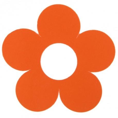 Marque place fleur orange carton 7 cm les 10