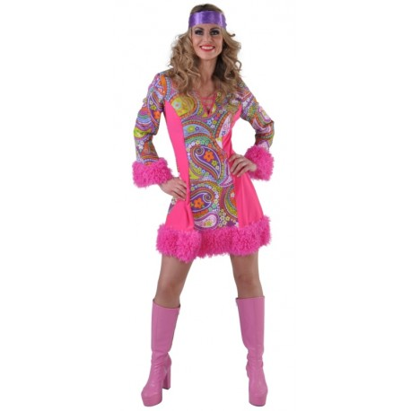 Déguisement hippie femme luxe
