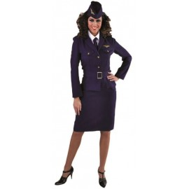 Déguisement militaire RAF 1940's femme luxe