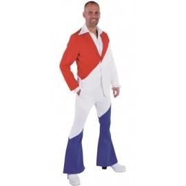Déguisement costume rouge blanc bleu homme luxe