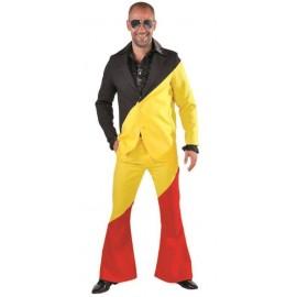 Déguisement costume noir jaune rouge homme luxe