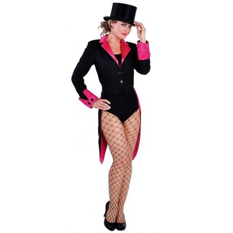 Déguisement queue de pie noire fuchsia femme luxe