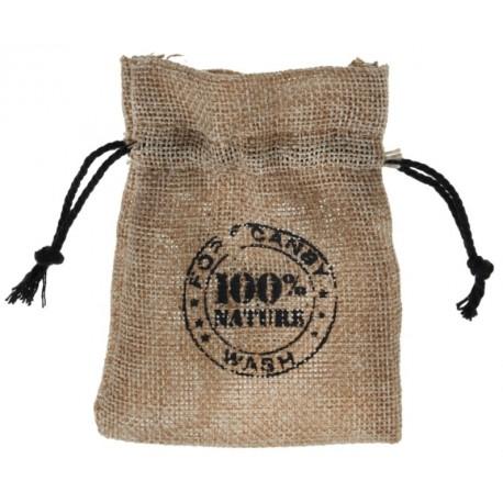 Sachet à dragées coton naturel 100% nature 10 cm les 4