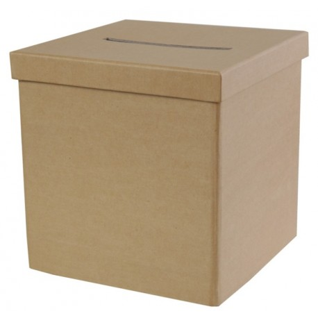 Tirelire kraft naturel carton 20 cm
