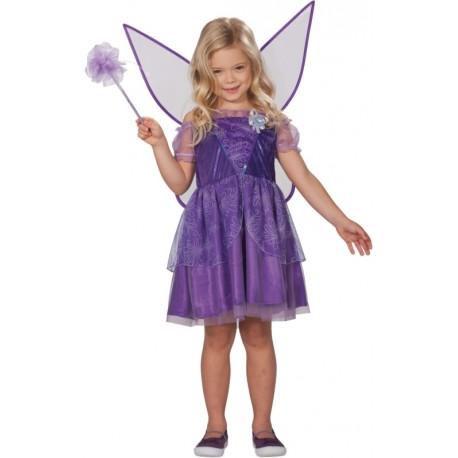 Déguisement fée fille violette