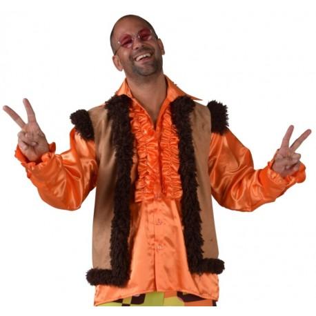 Déguisement veste hippie homme luxe
