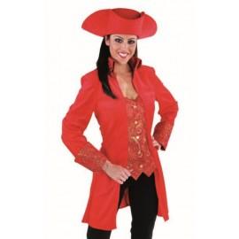 Déguisement marquise manteau rouge femme luxe