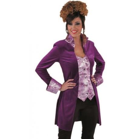 Déguisement marquise manteau lilas femme luxe