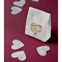 Confettis coeur en tissu non tissé 4 cm les 100