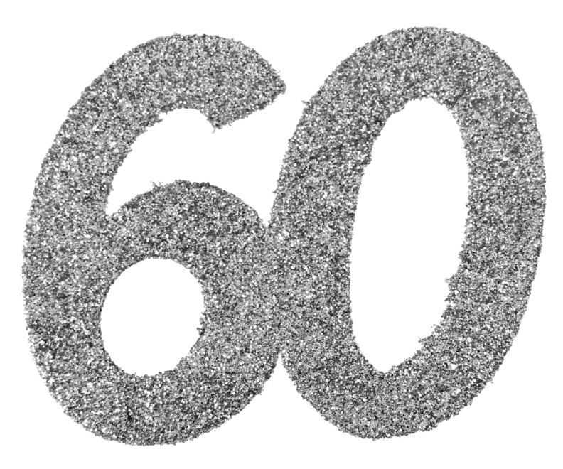 Confettis Anniversaire 60 Ans Argent Paillet Les 6 Confettis De Table