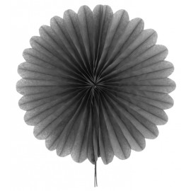 Eventail en papier gris 40 cm