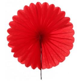 Eventail en papier rouge 40 cm