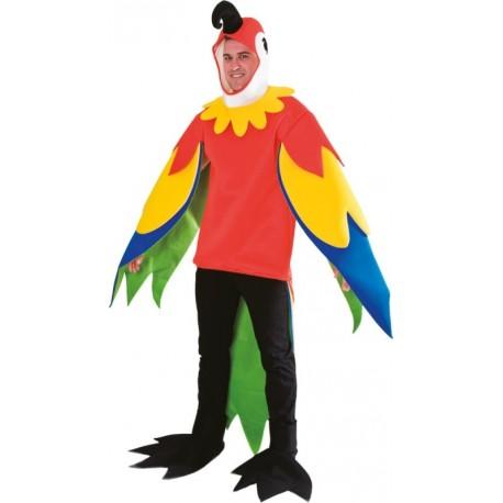 Déguisement perroquet homme