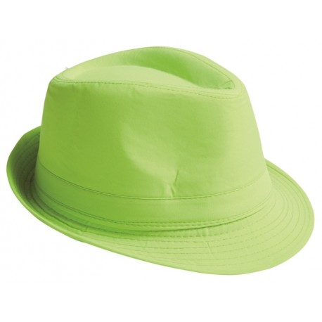 Chapeau Fedora vert anis adulte