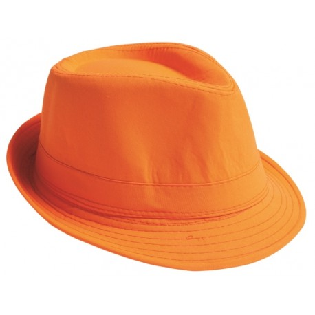 Chapeau Fedora orange adulte