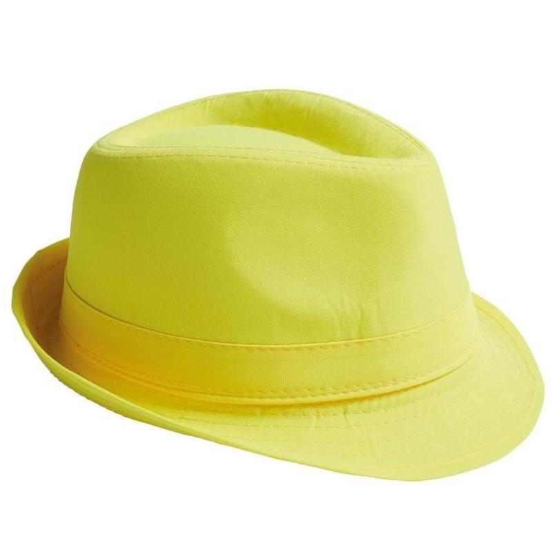 Chapeau Fedora jaune adulte