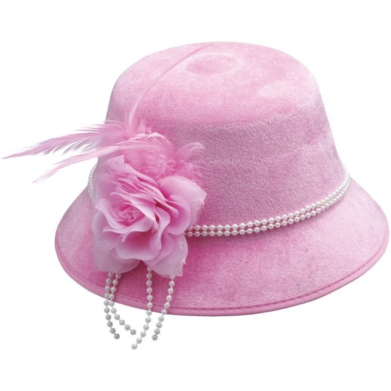 chapeau charleston ann es 20 30 femme rose. Black Bedroom Furniture Sets. Home Design Ideas
