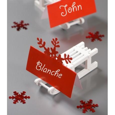 Confettis de table flocon de neige rouge 20 g