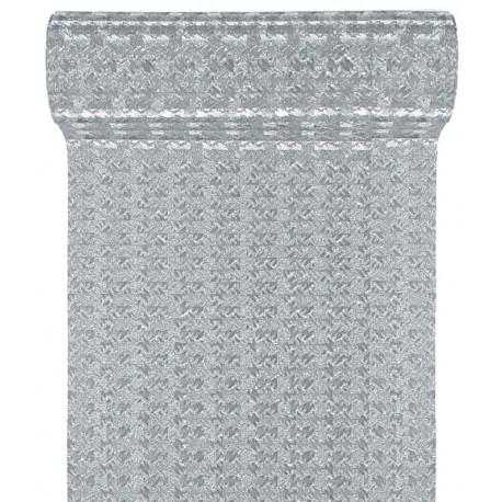 Ruban fantaisie argent métallisé 10 cm x 5 M