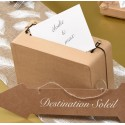 Tirelire valise kraft naturel en carton 24 cm