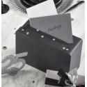 Tirelire valise couleur ardoise en carton 24 cm