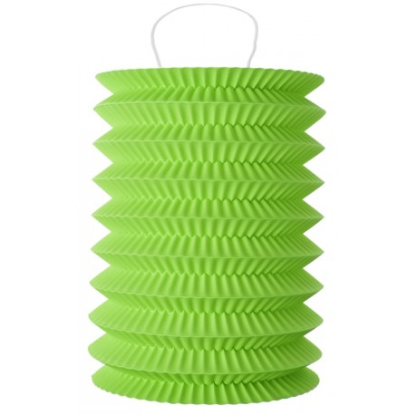 Lampion papier vert anis 10 x 18 cm les 2