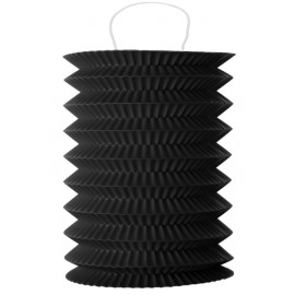Lampion papier noir 10 x 18 cm les 2