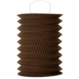 Lampion papier chocolat 10 x 18 cm les 2