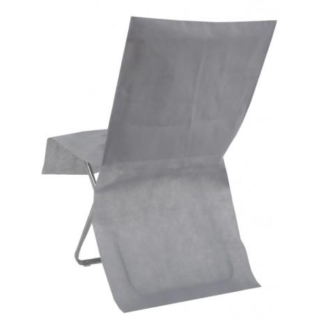 Housse de chaise grise intissé opaque les 8