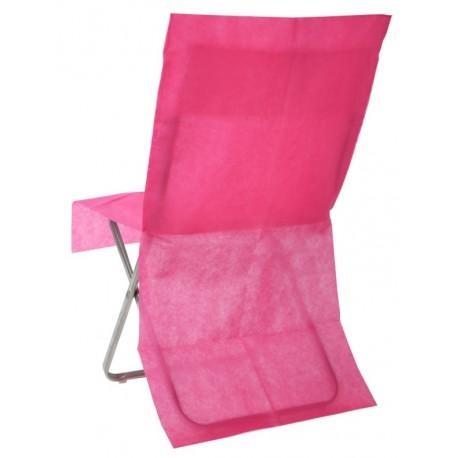 Housse de chaise fuchsia intissé opaque les 8