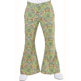 Déguisement pantalon hippie homme Summer of love luxe
